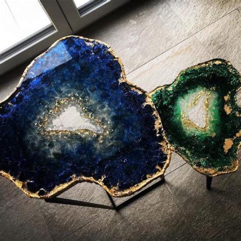 mesmerizing resin tables design   giant geode