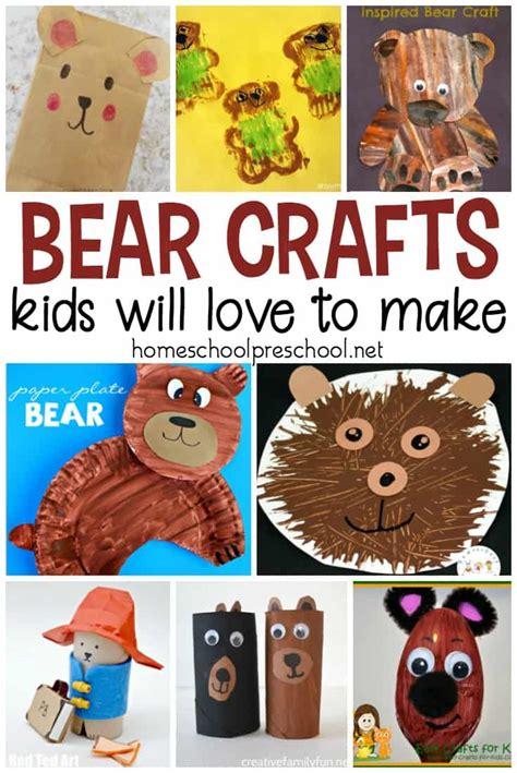 19 simple crafts for kindergarten and preschool 388 | bear crafts for kindergarten