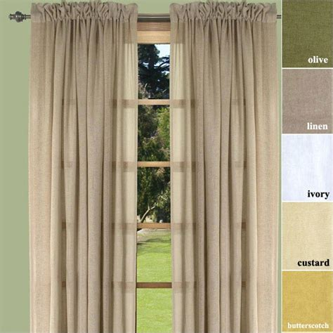 linen lucerne semi sheer curtain panel for our home