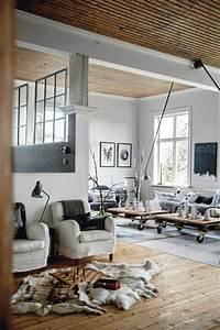 Déco Style Industriel : d co salon meuble style industriel pas cher pour le salon style industriel ~ Teatrodelosmanantiales.com Idées de Décoration