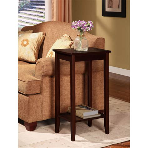 how tall are end tables rosewood tall end table coffee brown walmart com
