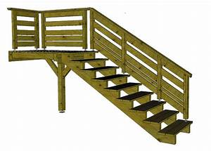 Escalier Extérieur En Bois : escalier exterieur bois kit 1 escalier terrasse bois ~ Dailycaller-alerts.com Idées de Décoration