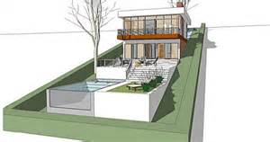 sloped lot house plans a home built on a slope interior design inspiration