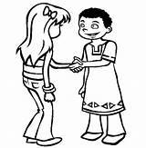 Coloring Pages Shaking Friendship Hand Friend Kwanzaa Friends Shake Children Sketch Hands Sheets Hi Sheet Fun Sketchite sketch template