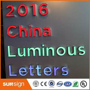 aliexpresscom buy lighted alphabet letter signfrontlit With buy channel letters