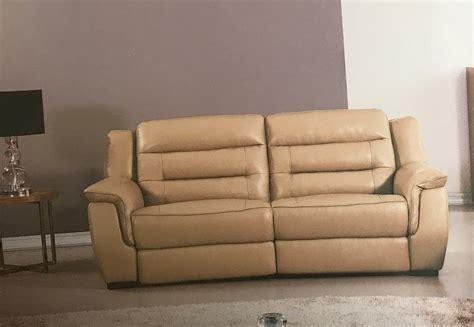Lago Full Italian Tan Leather Power Recliner Sofa