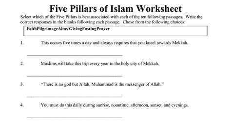printable worksheets 187 islamic worksheets printable