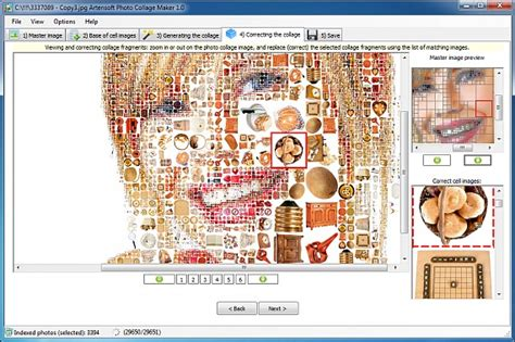 artensoft photo mosaic wizard  gratis crea  mosaico