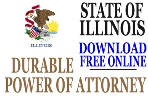 blank power of attorney form illinois new form for power of attorney in north carolina form
