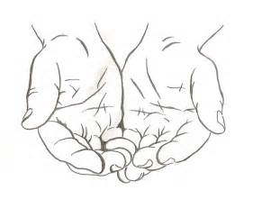 Cupped Hands Drawing