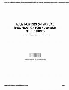 Aluminum Design Manual Specification For Aluminum