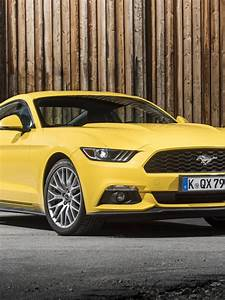 Ford mustang gt eu spec yellow side view 4k 3840×2160 mustang, yellow