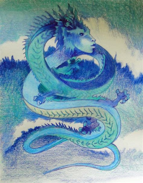 Colored Pencil Dragon Drawings