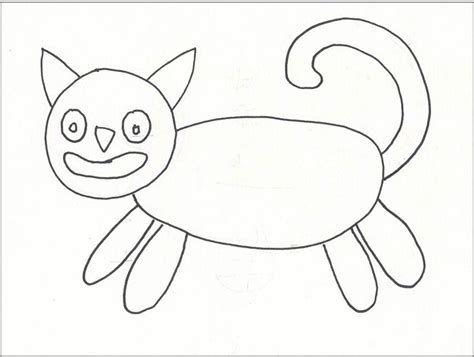 Another Folk Art Cat  Art Projects For Kids