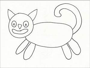 Another Folk Art Cat - Art Projects for Kids