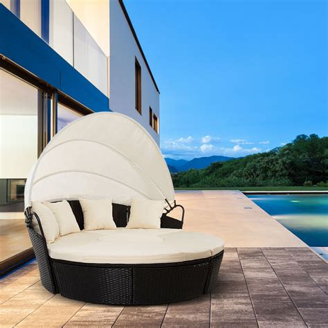 sofa exterior para terraza sofa redondo de exterior jardin o terraza venecia ratan