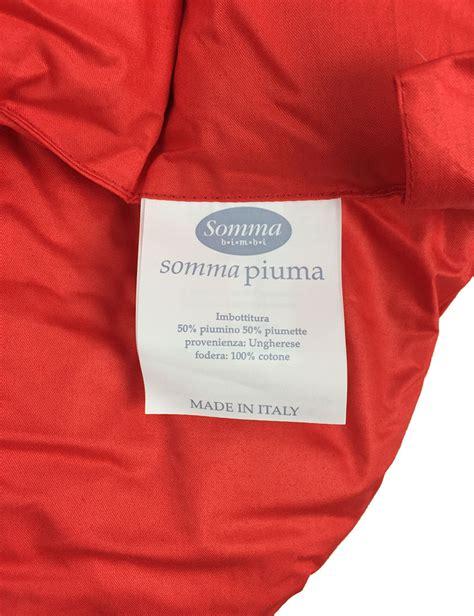 Piumoni Somma by Sacco Ovetto Nanna Termico Rosso In Piuma D Oca By Somma