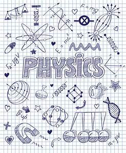 Hand Drawn Physics Set Stock Vector