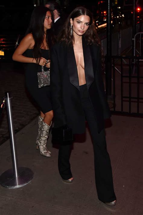 Emily Ratajkowski seen outside Gucci after-party for the ...