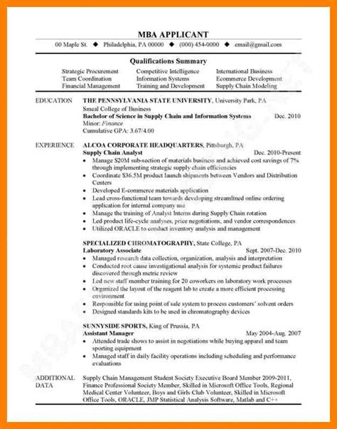 8 mba resume template informal letters