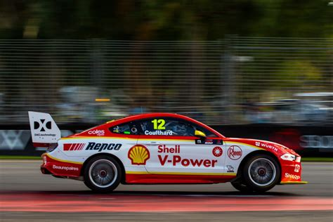 coulthard takes shell mustang  pole  race   adelaide speedcafe