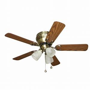 Harbor breeze ceiling fan light kit lowes : Harbor breeze cheshire ii in antique brass flush