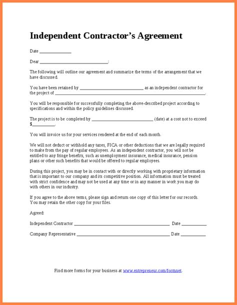 independent sales contractor agreement template