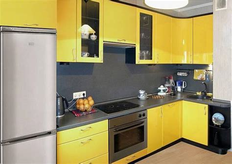 yellow kitchen design small kitchen remodeling ideas accentuated with 1216
