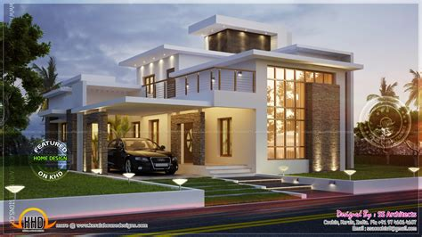 modern home house plans awesome 3000 sq contemporary house home kerala plans