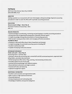entry level accountant resume samples resume template With entry level accounting resume