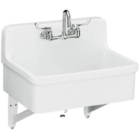 model 12700 gilford apron front wall mount kitchen sink white kohler single bowl kitc 1600