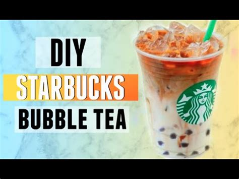 Diy Starbucks Boba  Bubble Tea  Iced Caramel Macchiato