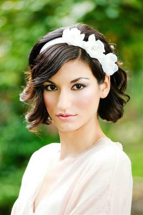 11 awesome and cute wedding hairstyles for short hair