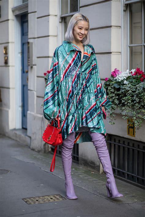 london fashion week street style fall  day   style rave