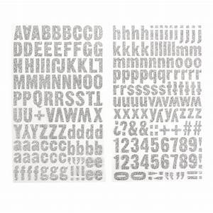 silver glitter letter stickers uppercase lowercase With large silver letter stickers