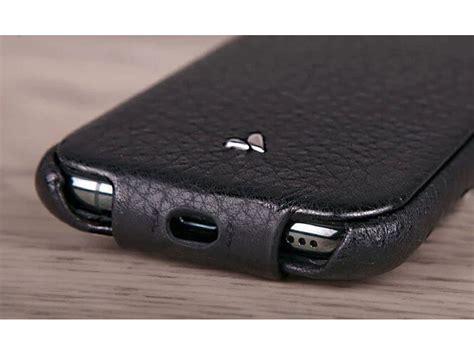 vaja top leather flipcase zwart iphone pro hoesje