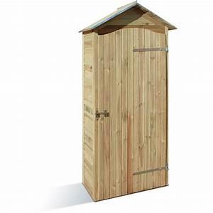 Armoire De Jardin Bois : armoire de jardin en bois 90 x 58 cm hauteur 204 cm mira jardipolys bricozor ~ Teatrodelosmanantiales.com Idées de Décoration