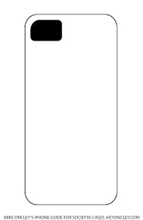 Iphone Cut Out Template by Small Rocks Society6 Iphone Templates
