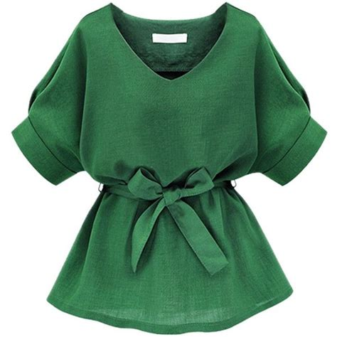 bow neck blouse choies green v neck bow tie sleeve blouse 20