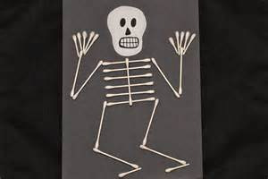 Easy Halloween Craft Skeleton