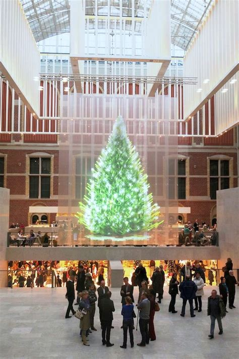 holographic christmas trees holographic projection