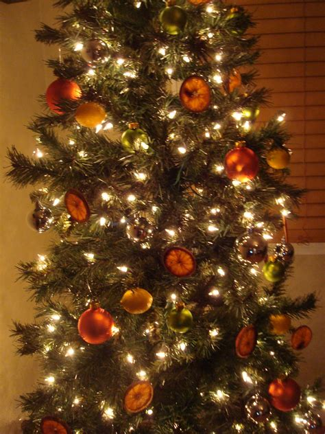 image gallery orange christmas tree small