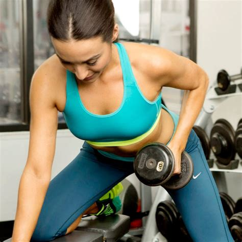 dumbbell arm exercises popsugar fitness