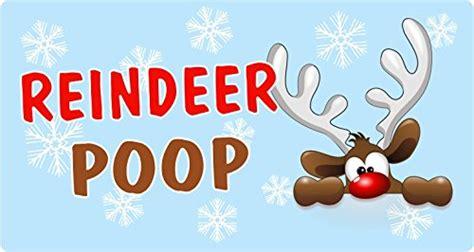 christmas poem reindeer poopsticker label business