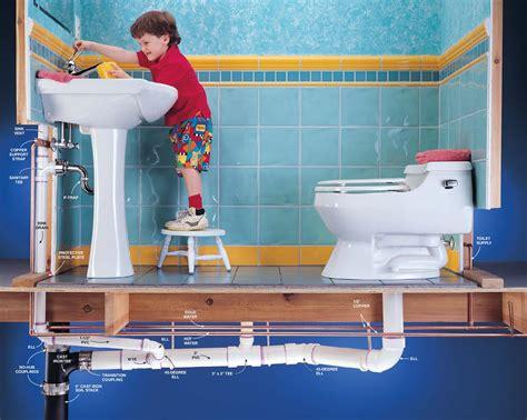 practical bathroom plumbing design