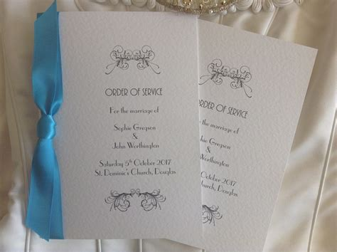 Art Deco Wedding Order Of Service Books From £1.25