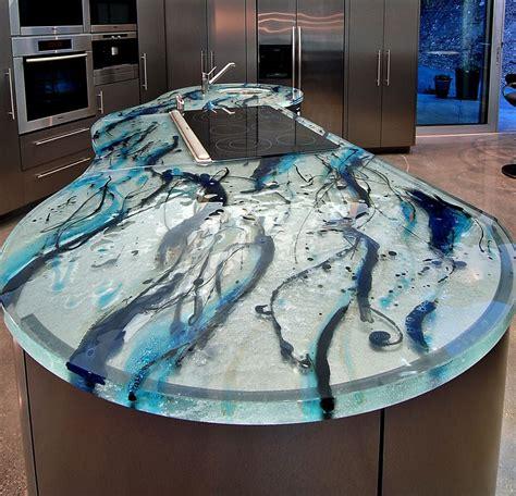 glass countertop ocean inspiration thinkglass