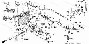 Honda Motorcycle 2004 Oem Parts Diagram For Radiator  R