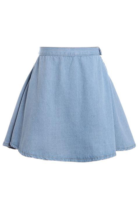 Light Blue Denim Skirt Redskirtz