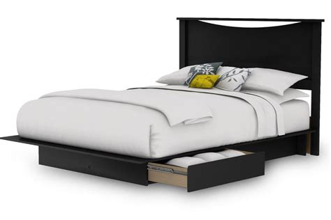 Queen Size Platform Bed Frame With Headboard And 2 Storage